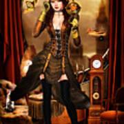 Steampunk Girl Poster