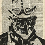 Steampunk Guy Poster