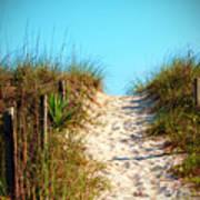 Steep Beach Path Poster
