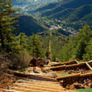 Steep Manitou Incline And Barr Trail Poster