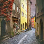 Steingasse Street Salzburg Austria  Poster