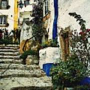 Step Street In Obidos Poster