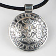 Sterling Silver Viking Celtic Cross Poster