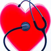 Stethoscope And Plastic Heart Poster