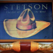 Stetson The Hat Of The West Signage Poster