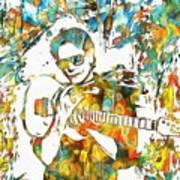 Steve Vai Paint Splatter Poster