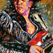 Stevie Ray Red Guitar Poster