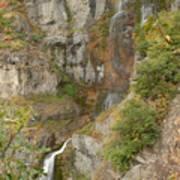 Stewart Falls in Autumn Poster