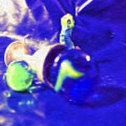 Still Life In Blue Poster