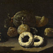 Still Life Of Sugared Fruits Poster
