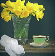 Still Life On Rustic Table Poster
