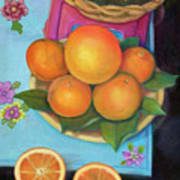 Still Life Oranges And Grapefruit Poster