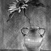 Still Life - Vase With One Sunflower Poster