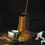 Still Life With A Chocolate Service Poster