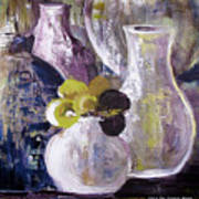 Still Life With A Yellow Flower Poster