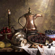 Still Life With Arabian Coffee Pot Poster