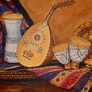 Still Life With Arabian Oud Poster