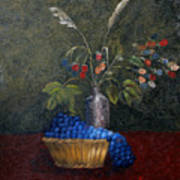 Still Life With Blue Fruit Poster