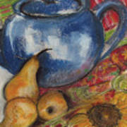 Still Life With Blue Teapot One Poster