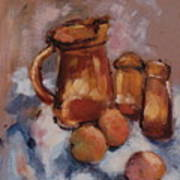 Still Life With Brown Pitcher Poster