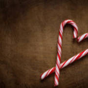 Still Life With Candy Canes Poster
