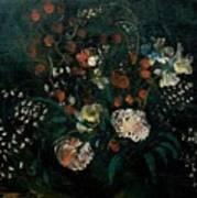 Still Life With Flowers Boris Grigoriev Poster