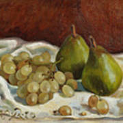 Still Life with French Grapes Poster