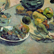 Still Life With Fruit Poster by Paul Gauguin