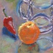 Still Life With Orange Poster