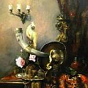 Still-life With The Dojra Poster by Tigran Ghulyan