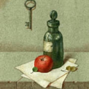 Still Life With Vial Poster