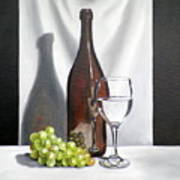 Still Life With White Wine Poster