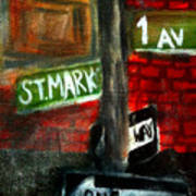 St.marks Place Poster