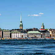 Stockholm From Lake Malaren Poster