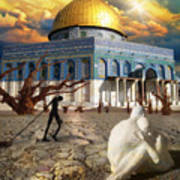 Stolen Light-dome Of The Rock Temple Mount Poster