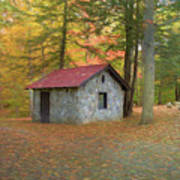 Stone Building In Autumn Poster