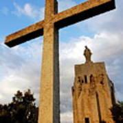 Stone Crucifix Poster