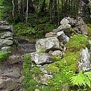 Stone Gate - Edmands Path - White Mountains New Hampshire  Poster