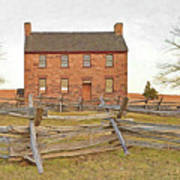 Stone House / Manassas National Battlefield / Winter Morning Poster by Digital Photographic Arts