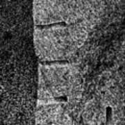 Stone Mason Scars Monochrome Poster