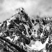 Stone Spire And Bowl Glacier Poster