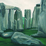 Stonehenge In Spring Poster