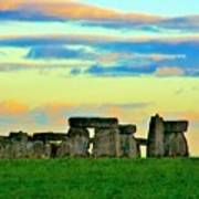 Stonehenge Sunset In Spring Poster