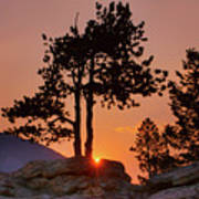 Stop Right Here - Rocky Mountain Np - Sunrise Poster