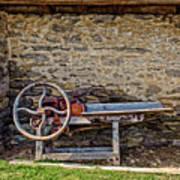 Storage Cove On An 1803 Amish Corn Barn  -  1800scornshellingmachine172835 Poster