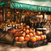Store - Hoboken Nj - The Fruit Market Poster