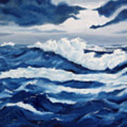 Storm At Sea Poster by Lorraine Foster