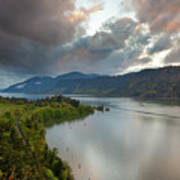 Storm Clouds Over Hood River Poster