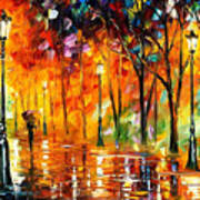 Storm Of Emotions - Palette Knife Oil Painting On Canvas By Leonid Afremov Poster