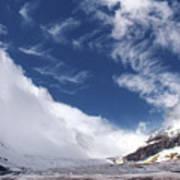 Storm On A Glacier Poster